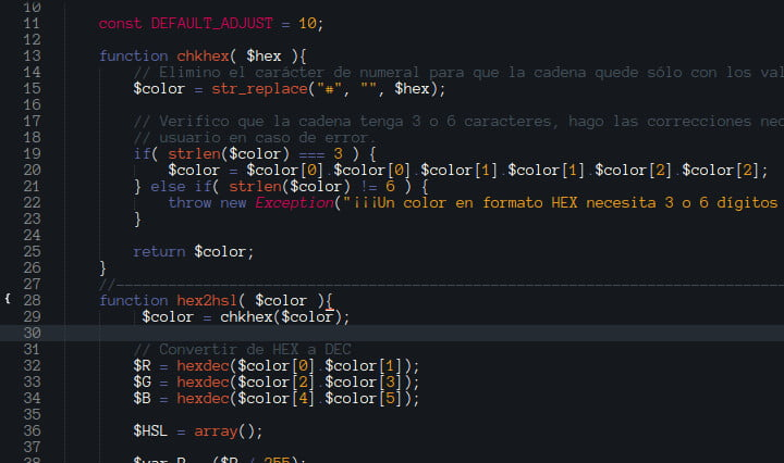 Código fuente PHP