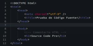 Fuente Source Code Pro